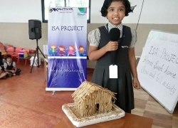 Show and tell on types of houses conducted as part of International School Award project